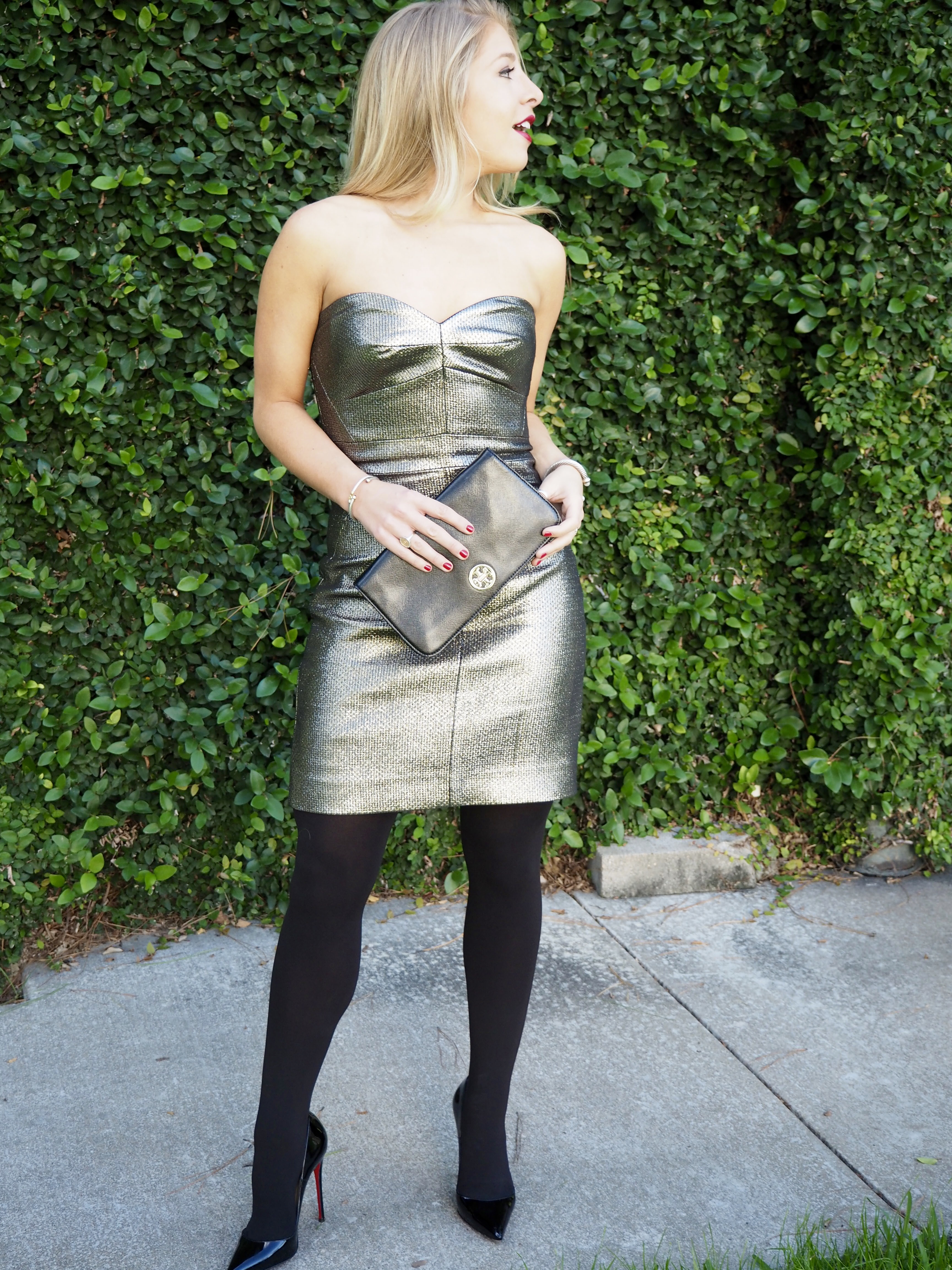 Metallic NYC Dress