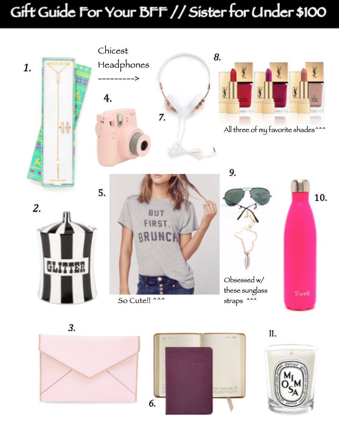 Christmas Gifts For Your BFF // Sister For Under $100