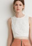 white croptop
