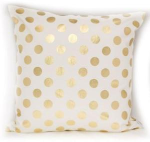 gold dot pillow