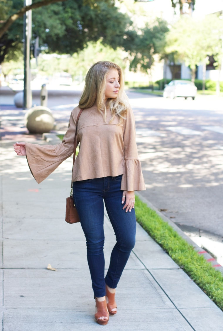 Suede Bell Sleeve Top // Fall Trends // 2016 Fall Fashion