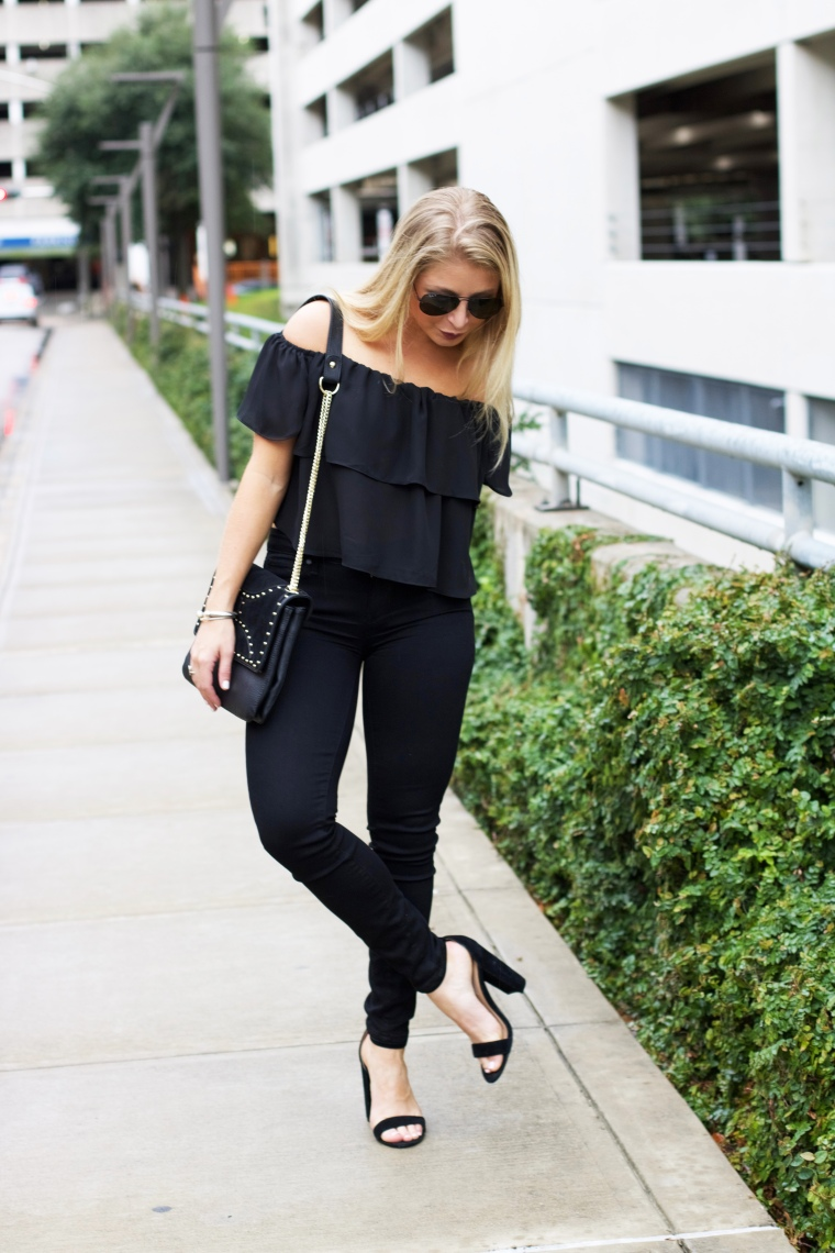 Off the shoulder fall look