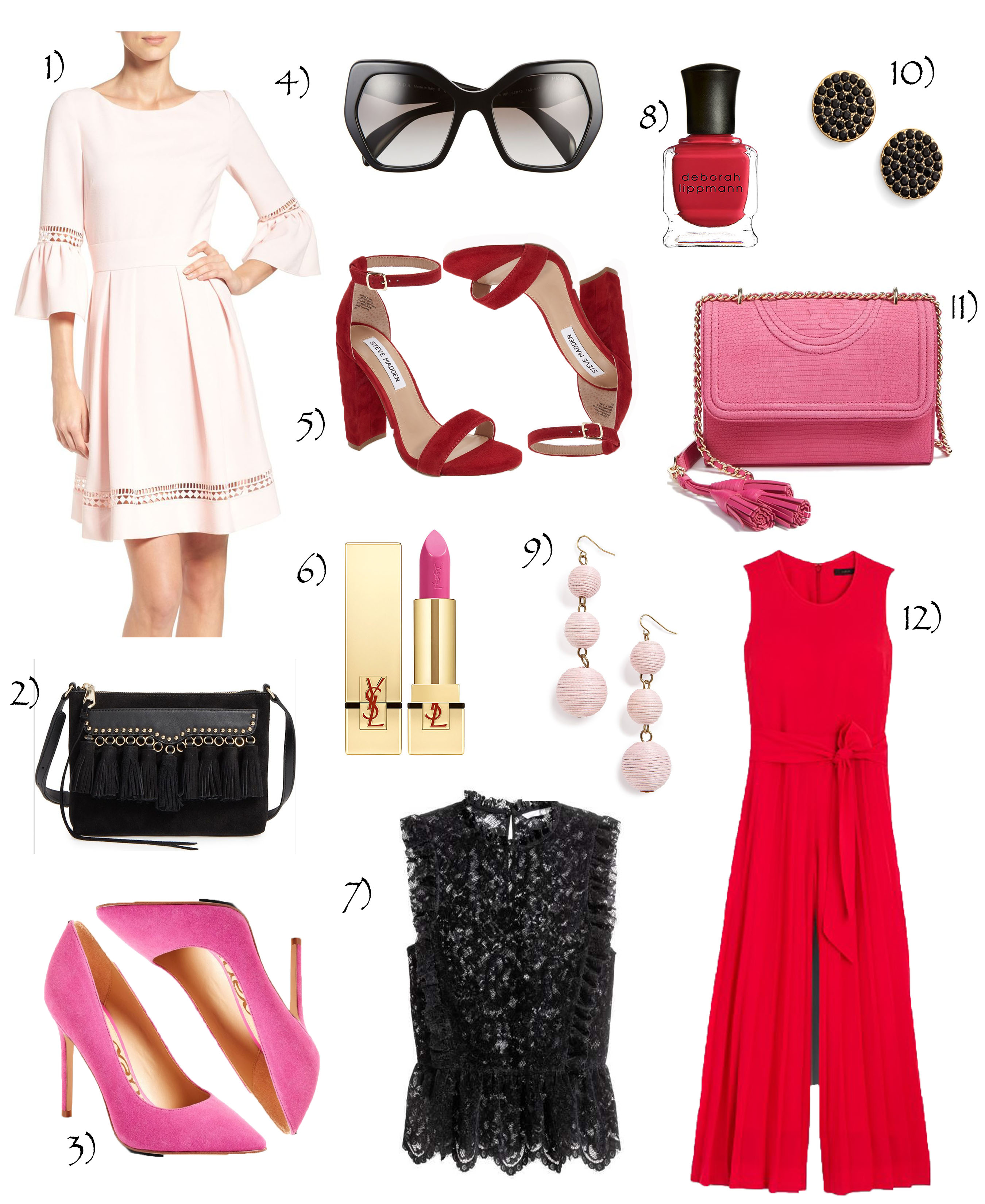 Pink Red & Black Fashion Inspo